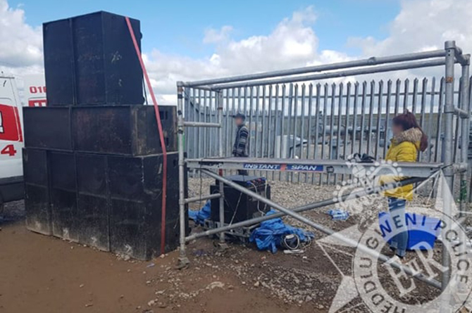 Speakers were seized by police at the illegal rave