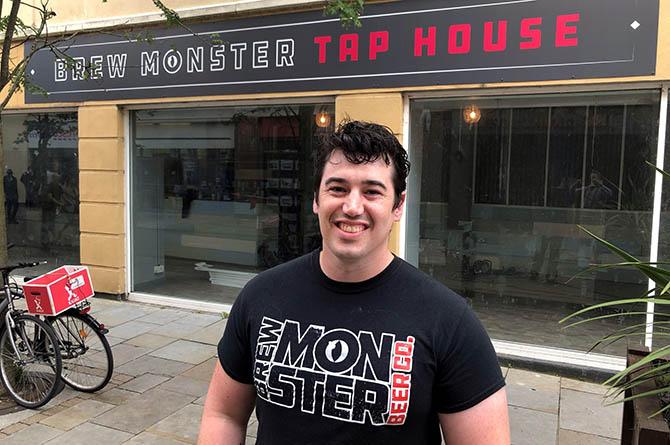Brew Monster managing director Glenn White outside their Cardiff bar