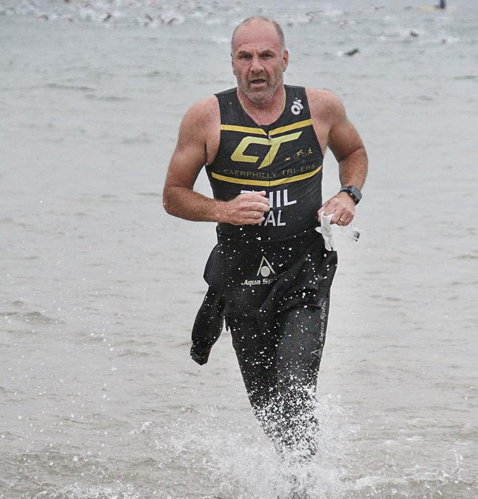 Phil Murrow took up triathlon when he retired, aged 60