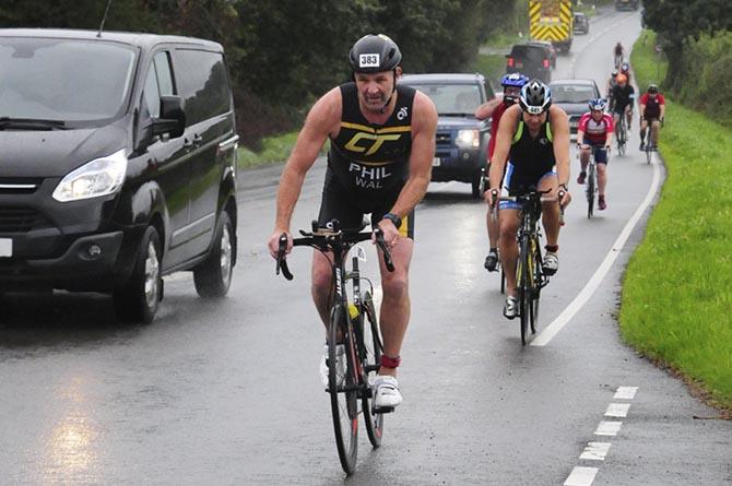 Phil Murrow is part of the Caerphilly Tri-ers triathlon club