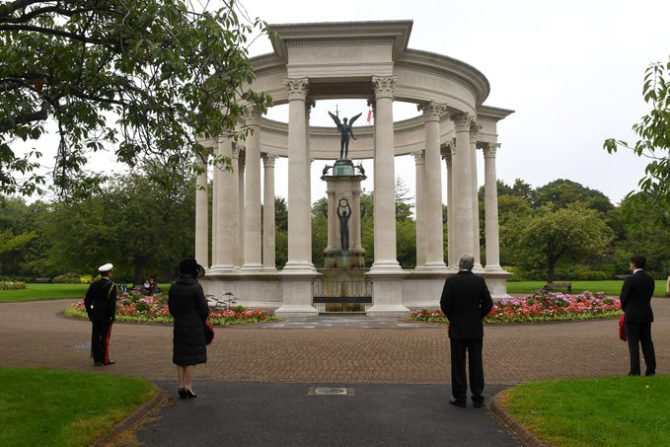 VJ Day is commemorated in Cardiff
