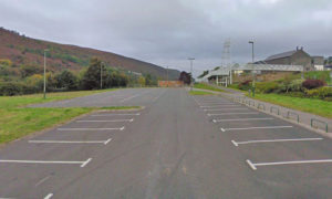 A temporary coronavirus test centre has been set up in the car park at New Tredegar Business Park