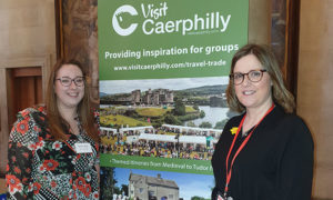 Sarah Curno and Sally Walters of the Caerphilly Tourism Association