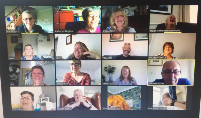 Caerphilly Miners Centre has been holding activities virtually on Zoom