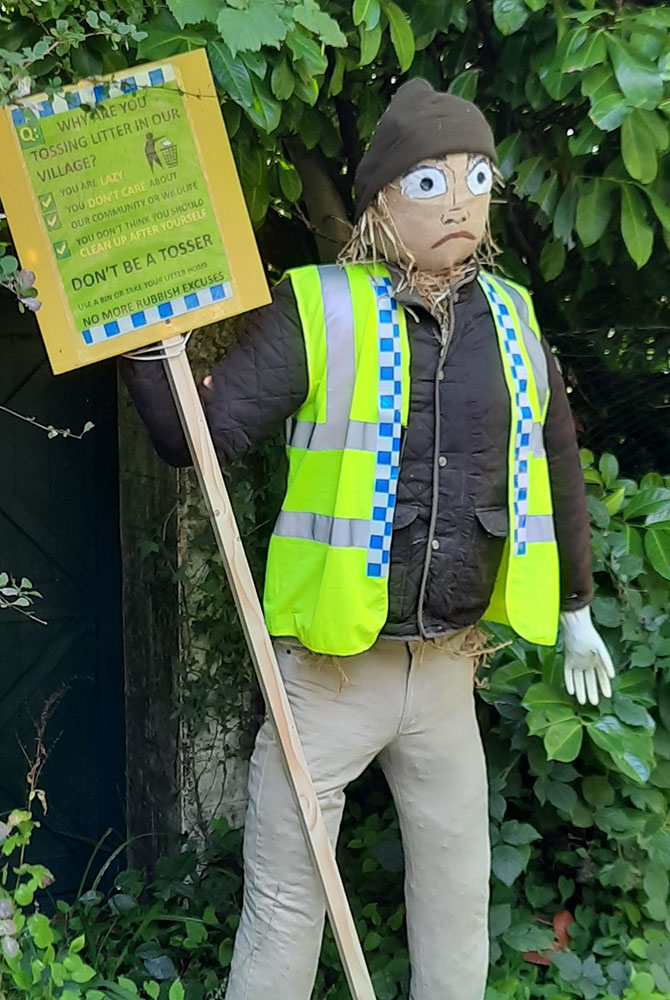 Residents in Draethen, Waterloo and Rudry have been busy making scarecrows