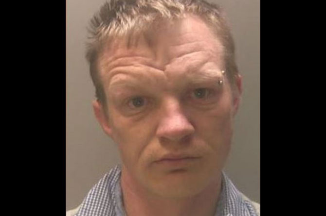 Matthew Davies has been jailed for shining a laser at a police helicopter