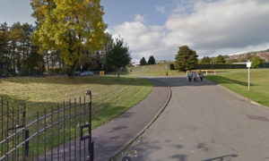 A mobile coronavirus testing unit is being set up at Penyrheol Park