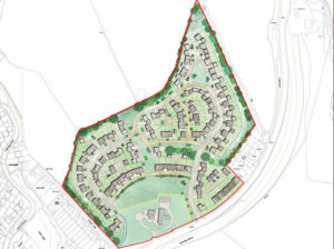 Original plans for the development on greenfield land in Cwmgelli, Blackwood