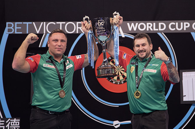 Gerwyn Price and Johnny Clayton have won the World Cup of Darts for Wales