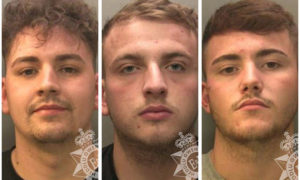 Joshua Billingham, Ellis Brace and Jamie Grady have been jailed