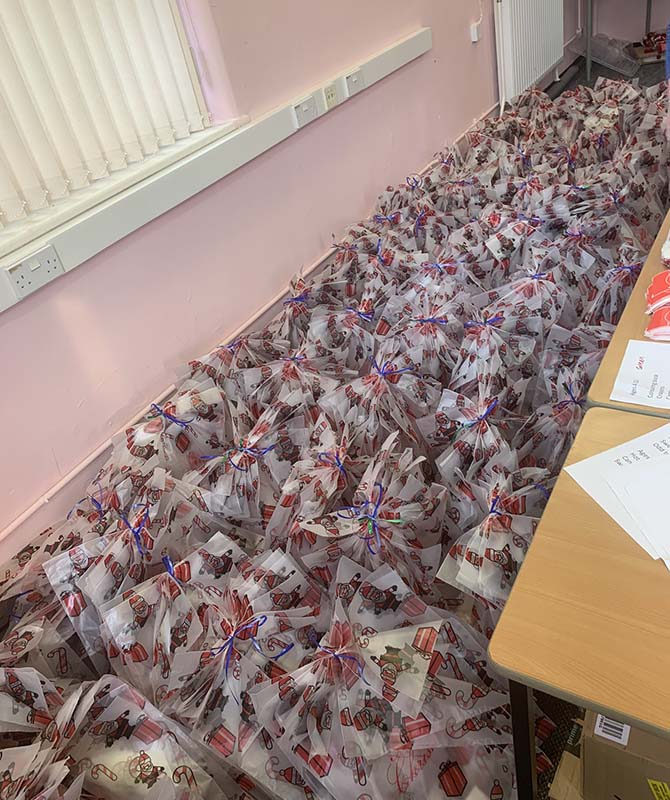 Gifts donated to the Operation Santa 2020 appeal have been wrapped