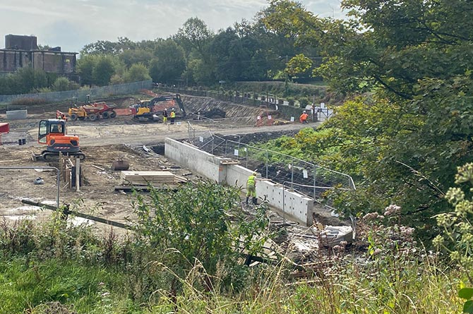 Work is underway to build 48 new homes on the site of the former Penallta Colliery