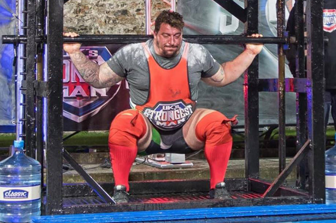 Gavin Bilton won UK's Strongest Man in Belfast in October