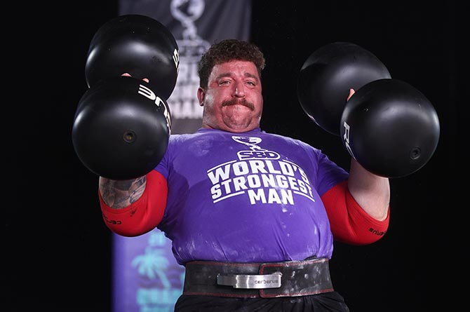 Gavin Bilton competing at World's Strongest Man in Bradenton, Florida