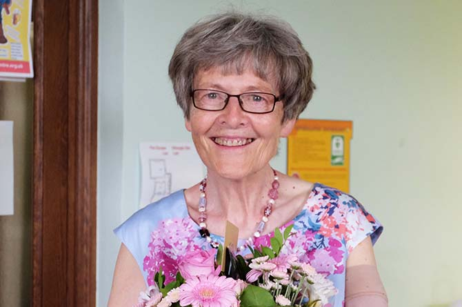 Katherine Hughes, secretary of Caerphilly Miners' Centre for the Community