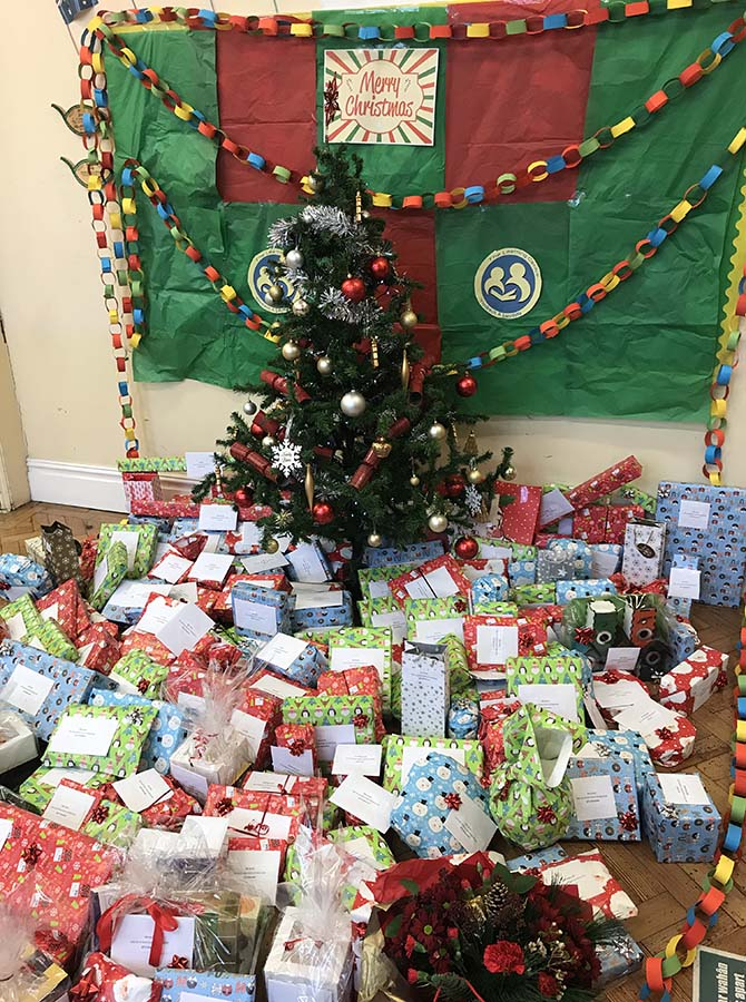 More than 175 gifts were donated to the Learning Centre's Christmas raffle