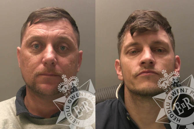 Craig McCaffrey, left, and Wayne Snell have been jailed for raiding Tesco supermarkets