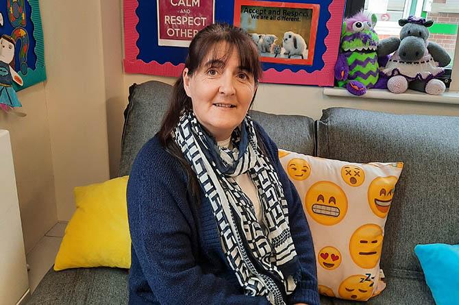 Suzanne Allen is an emotional language support assistant at Ysgol Gymraeg Caerffili