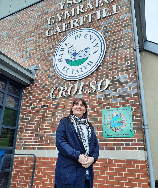 Suzanne Allen has worked at Ysgol Gymraeg Caerffili for 17 years