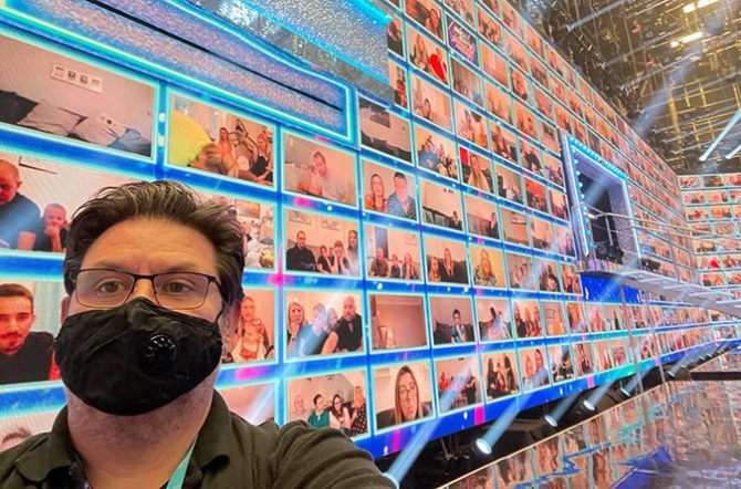 Kinetic Pixel CEO Craig Hann with the Virtual Interactive Audience on Ant and Dec's Saturday Night Takeaway