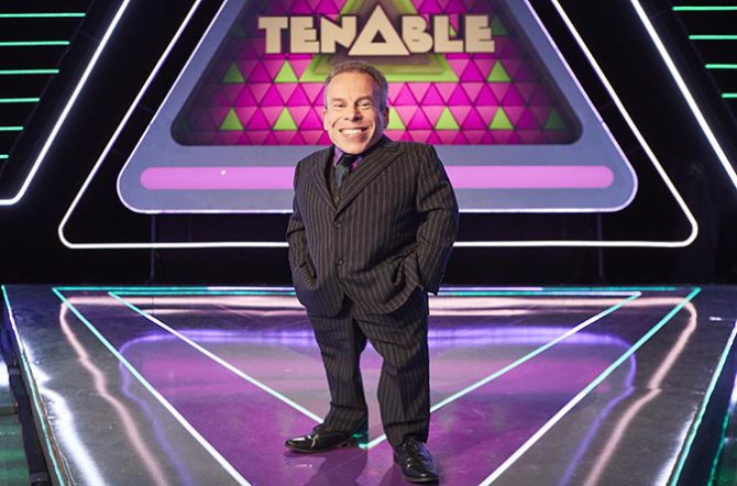 Tenable, hosted by Warwick Davis (pictured), is one of the shows Kinetic Pixel has worked on