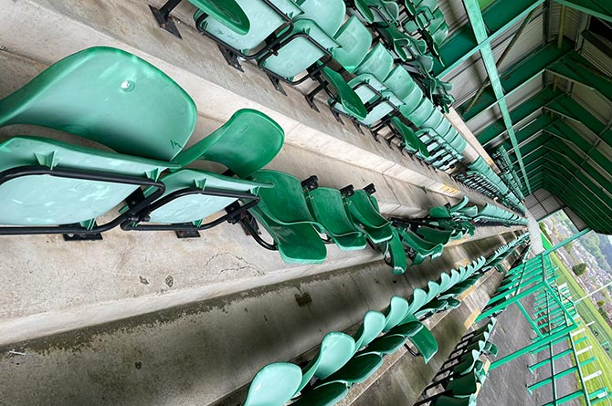 Seats at Caerphilly RFC's Virginia Park ground have been vandalised