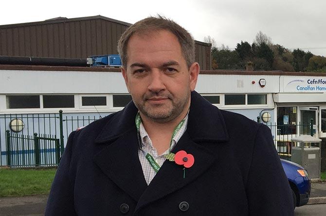 Blackwood town councillor Rhys Mills stood for Plaid Cymru in Islwyn