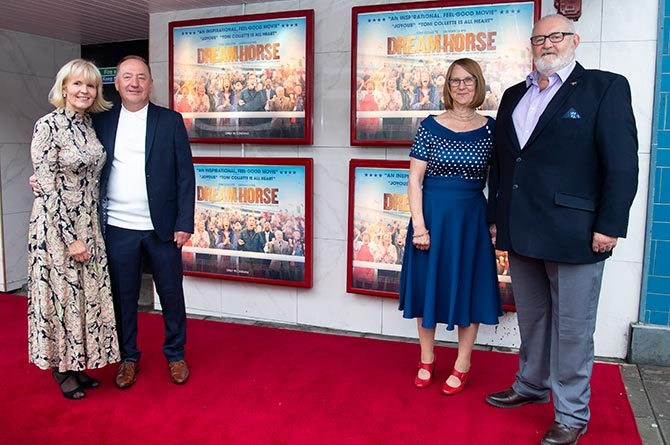 Angela and Howard Davies and Jan and Brian Vokes at the premiere of Dream Horse