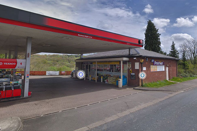 The Premier store and Texaco station in Gilfach