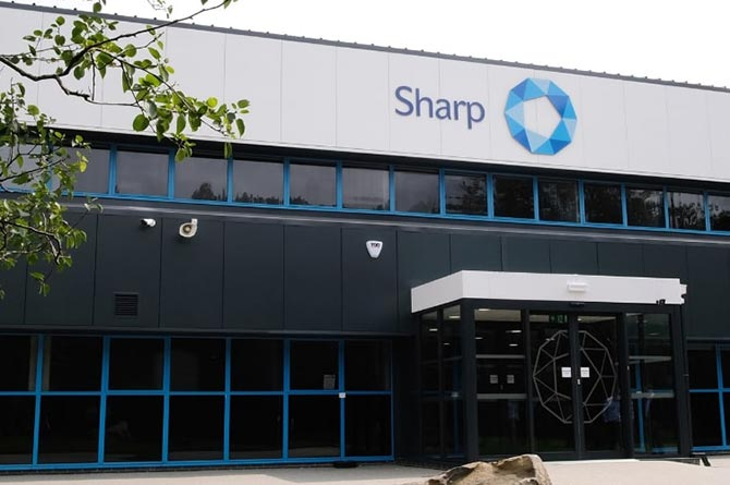 The Sharp factory on Heads of the Valley Industrial Estate, Rhymney