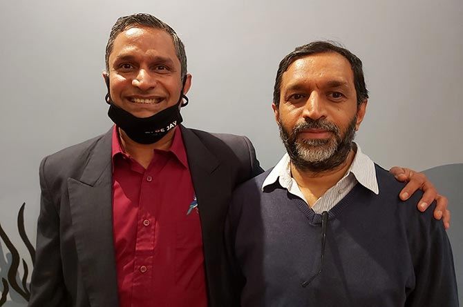 Naren Suri and brother VSR Suri are behind the new Blue Jay Bar and Kitchen in Cardiff