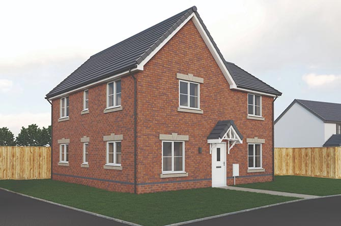 An artists impression of a house on the Bedwellty School development