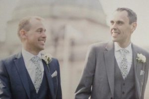 Married couple Carl and Martin are now able to donate blood as a result of the rule change