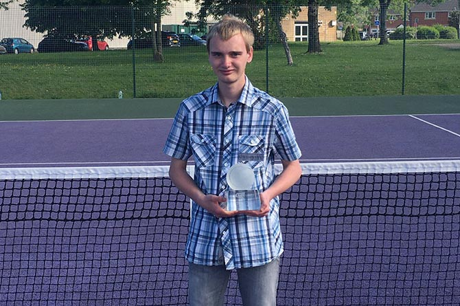 Jonah Jones with his LTA Young Person of the Year award