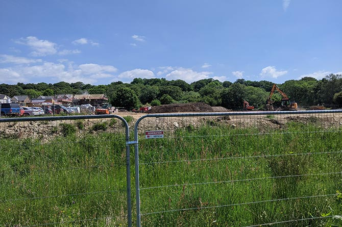 Housing being built on the site of the former Bedwellty Comprehensive playing fields