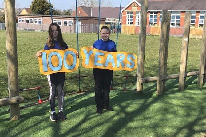 Derwendeg pupils have been celebrating the school's 100th anniversary