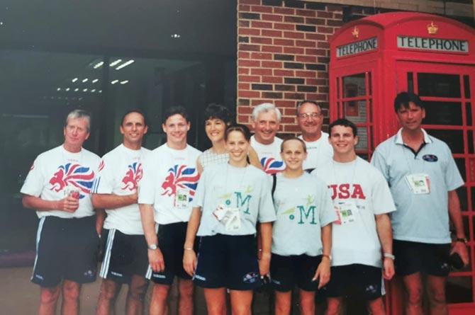 The GB Gymnastics delegation in 1996