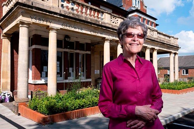 Caerphilly Miners' Centre Secretary Katherine Hughes