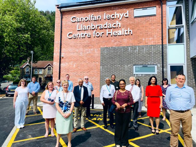 The project team for the Llanbradach Centre for Health
