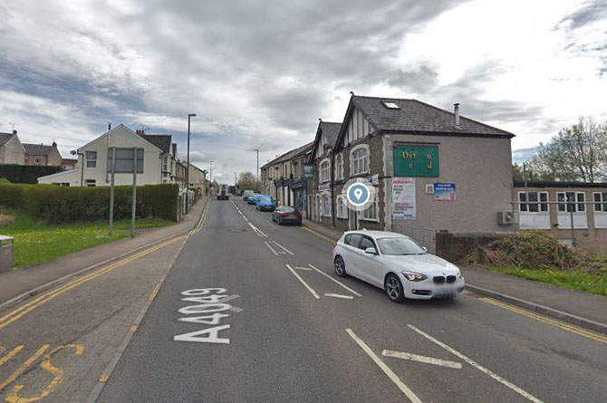 The assault happened  on Commercial Street, Aberbargoed