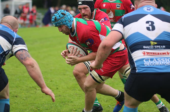 New Bedwas captain Craig Hudd carrying the ball against Bargoed