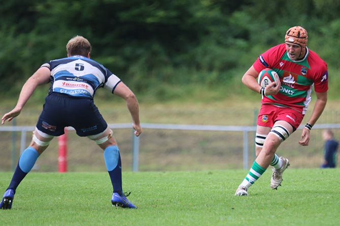 Harry Oliver making his Bedwas debut at Bargoed