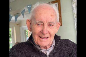 Thomas Preece on his 100th birthday
