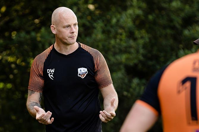 Aber Valley FC coach Dean Wood