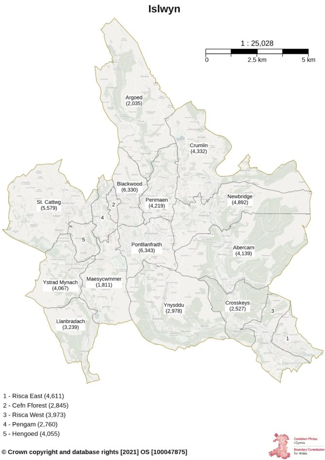 Proposals for the new Islwyn constituency