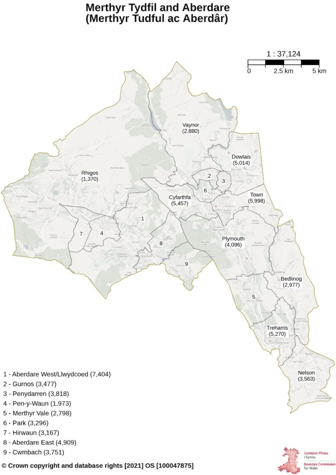 Proposals for the new Merthyr Tydfil and Aberdare constituency