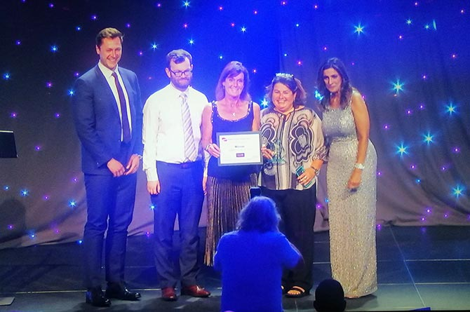 The council's catering team were winners at the APSE Service Awards