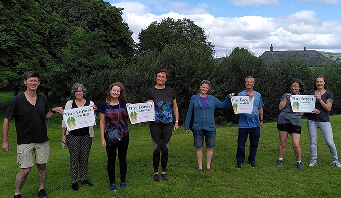 Members of Climate Action Caerphilly at Morgan Jones Park