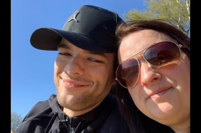 Emma Lee with her son, Bradley Scott-Lee