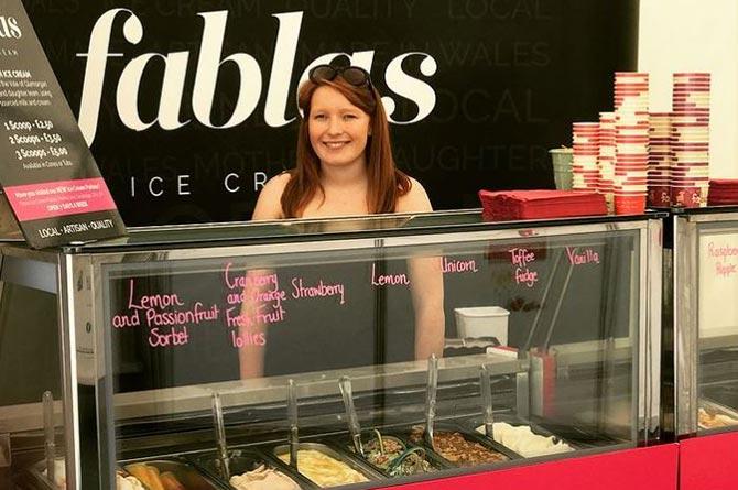 Lauren Evans, co-founder of Fablas ice cream